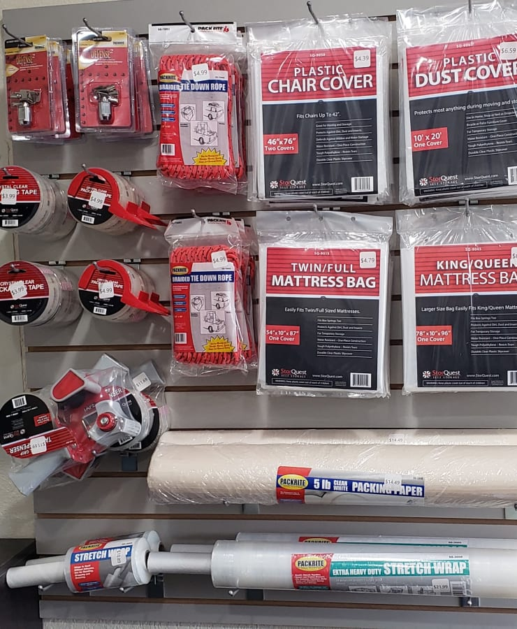 Packing supplies sold at StorQuest Express - Self Service Storage in Sacramento, California