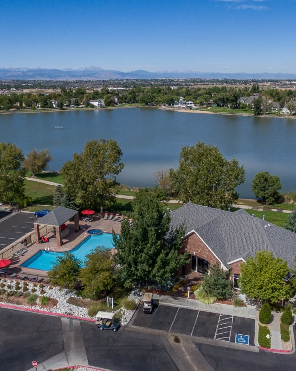 Enjoy the neighborhood at Promenade at Hunter's Glen Apartments in Thornton