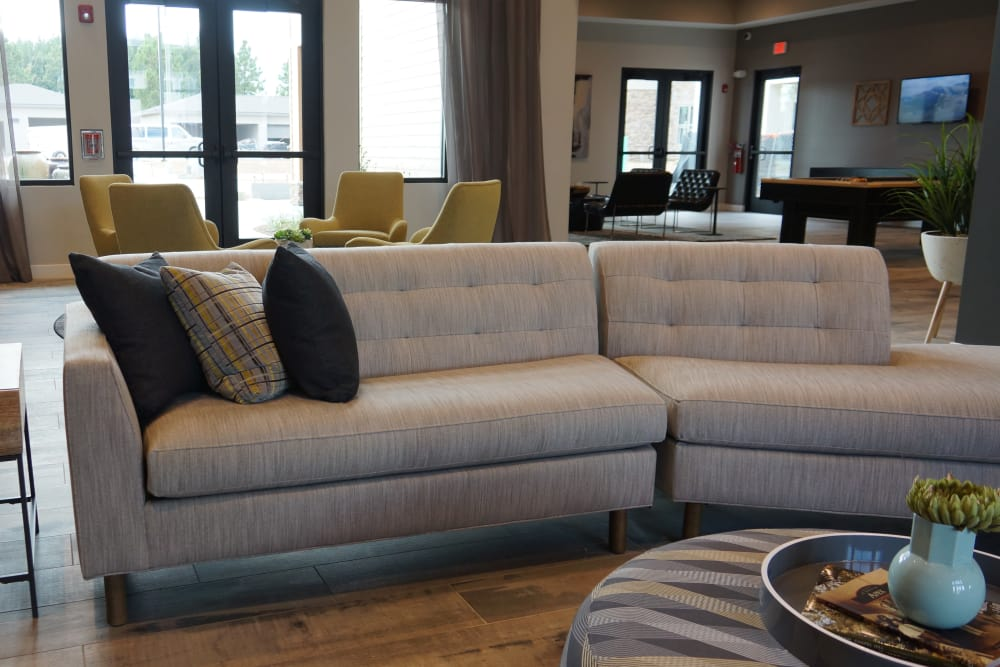 Large open living room waiting for your furniture at Flats At 540 in Apex, NC