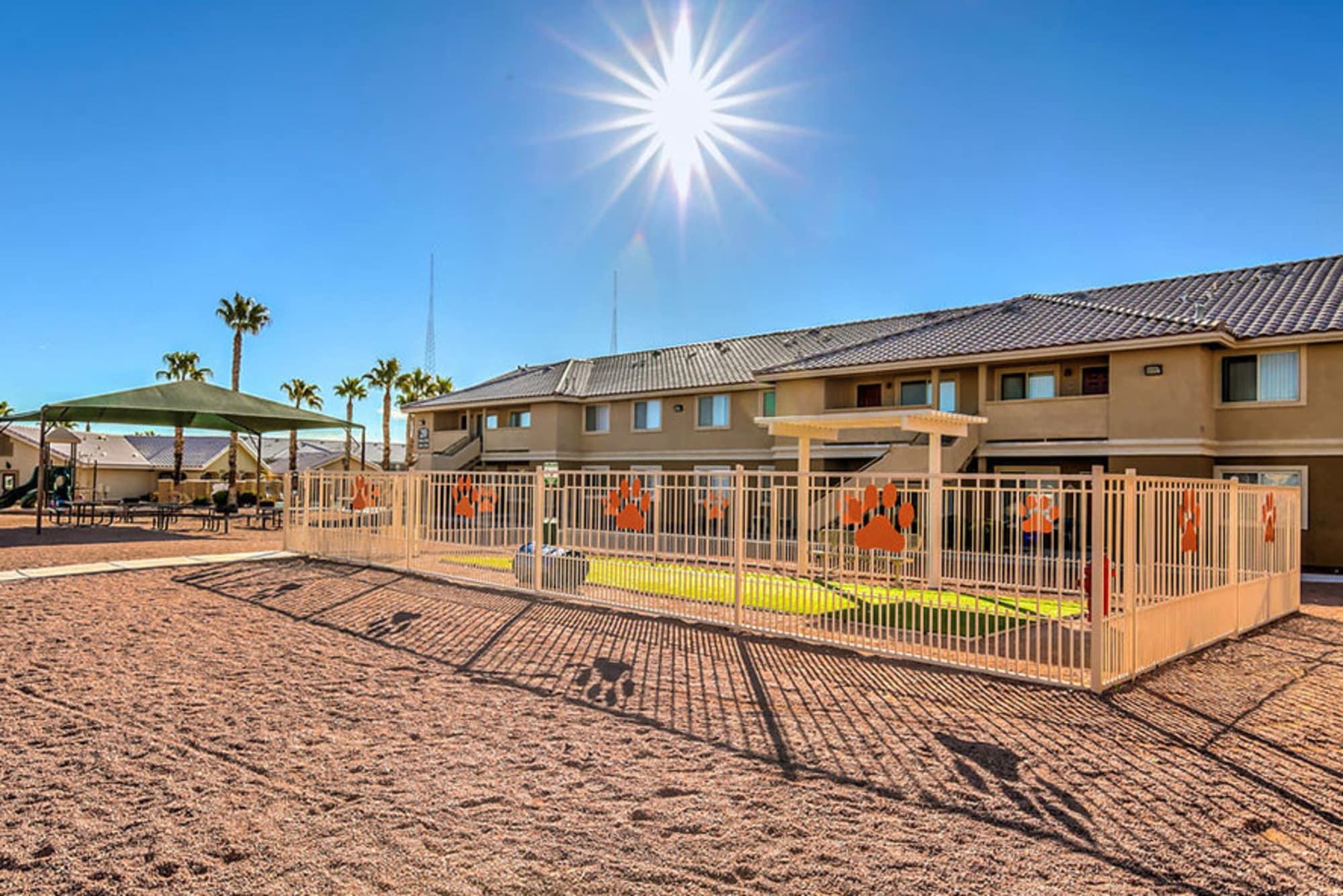On-site bark park at Portola Del Sol in Las Vegas
