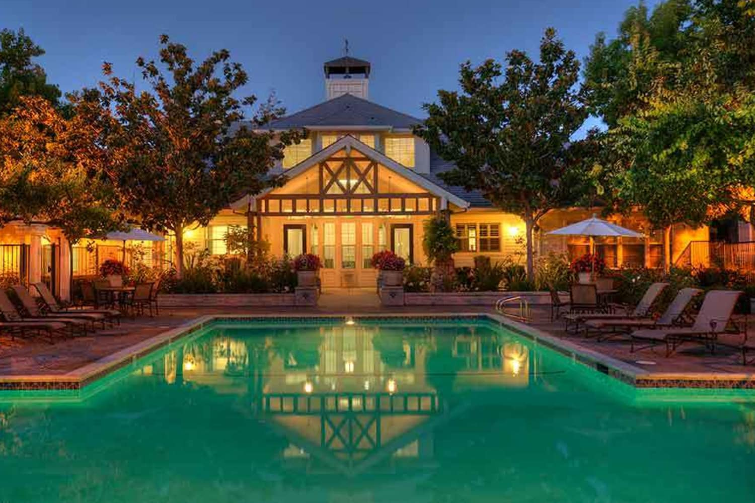 Resort style pool at Nantucket Apartments in Santa Clara, California