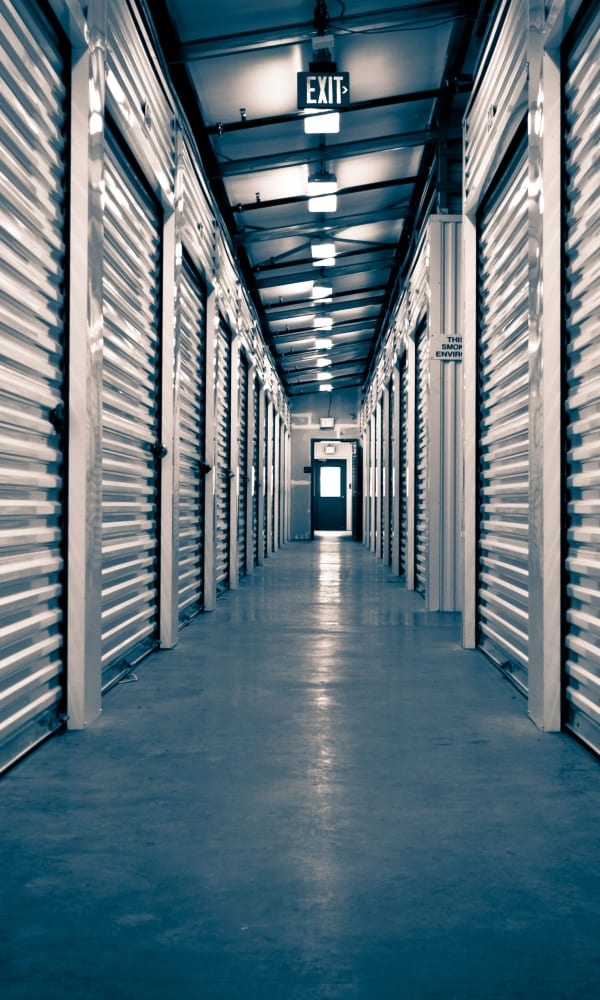 Indoor storage units at A-1 U-Store-It in Vancouver, Washington