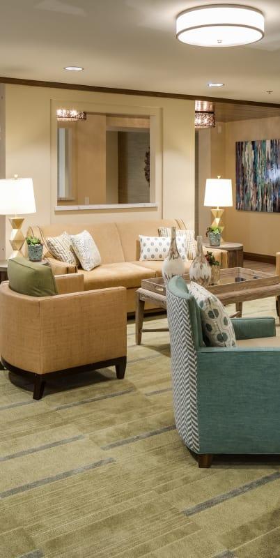 Living room at The Montera in La Mesa, California