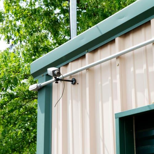 Outdoor security camera at Red Dot Storage in Denham Springs, Louisiana