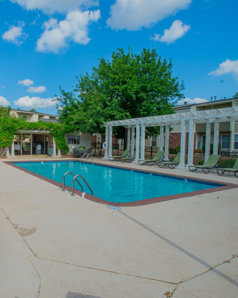 Resort style pool at Summerfield Place Apartments in Oklahoma City, Oklahoma