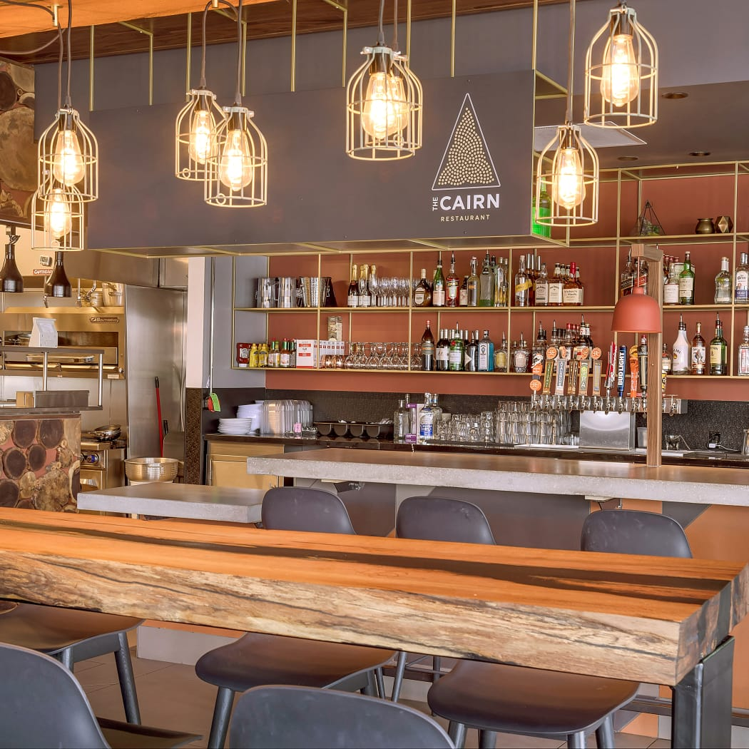 The CAIRN is the onsite restaurant at TAVA Waters in Denver, Colorado