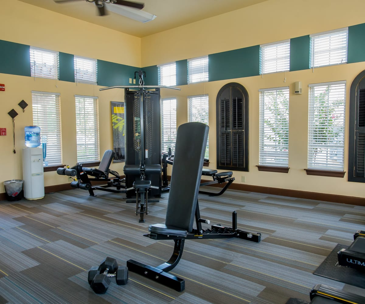 Private fitness center at Coffee Creek Apartments in Owasso, Oklahoma