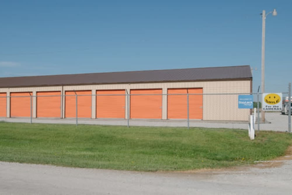 Entrance to our storage units at StayLock Storage in Demotte, Indiana