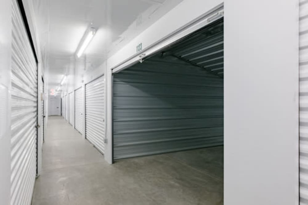 Roll-up doors on self storage units at StayLock Storage in Yorktown, Indiana