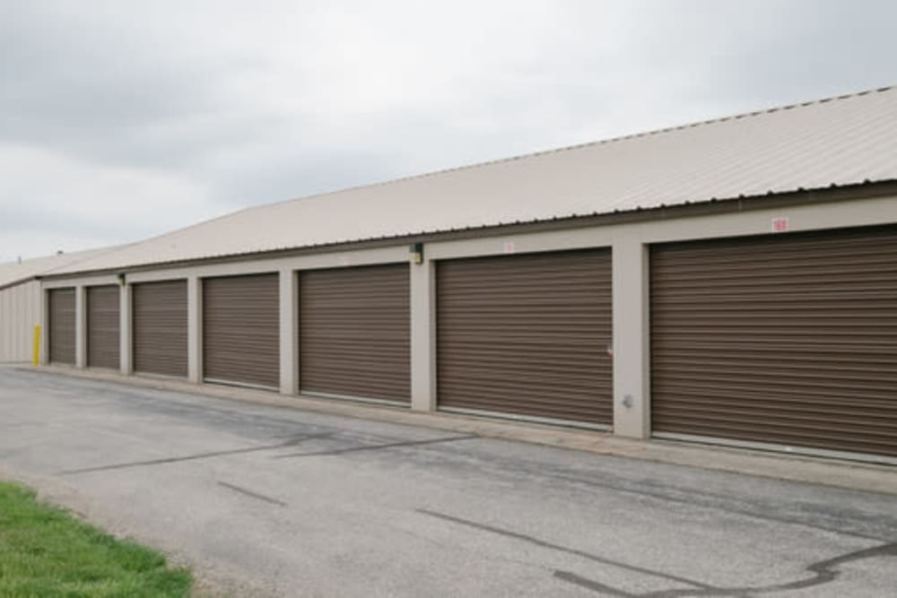 Exterior view of self storage units at StayLock Storage in Anderson, Indiana