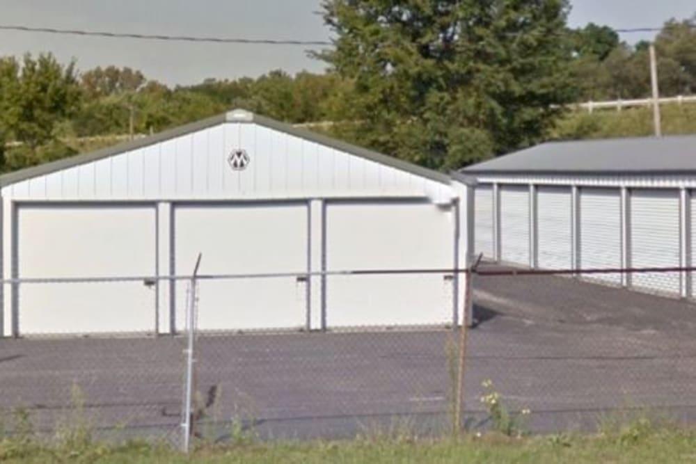 White doors on storage units at StayLock Storage in Valparaiso, Indiana