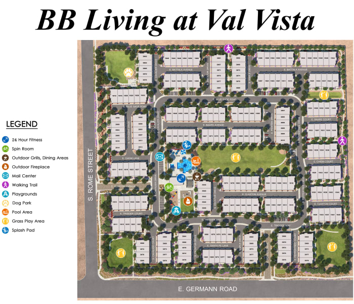 BB Living at Val Vista site plan