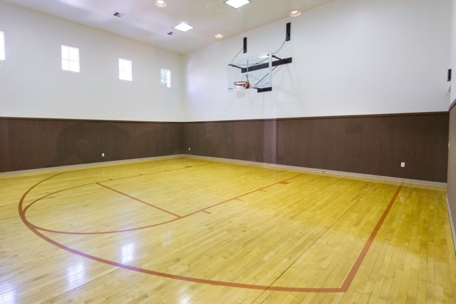 Enjoy at basketball court at Irving Schoolhouse Apartments in Salt Lake City, Utah
