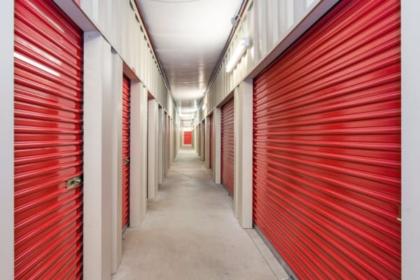 Row of storage units at Smart Space Self Storage - Colorado Springs in Colorado Springs, Colorado
