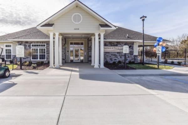 Main entrance to Aventura at Towne Centre in Ellisville, Missouri.