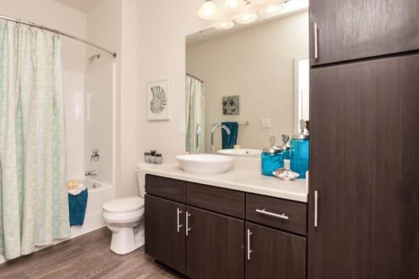 Spacious bathrooms at Aventura at Towne Centre in Ellisville, Missouri.