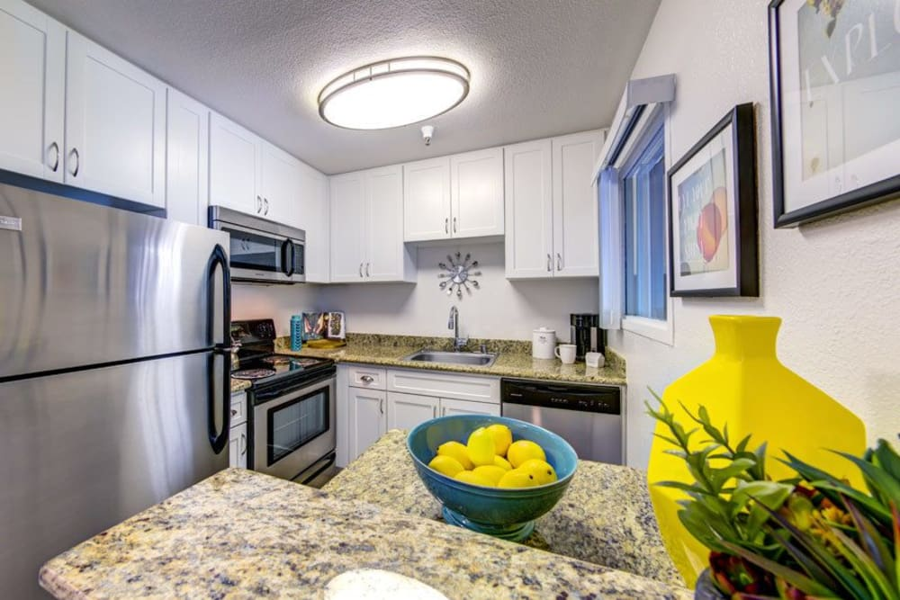 Modern kitchen at Sofi Sunnyvale in Sunnyvale, CA