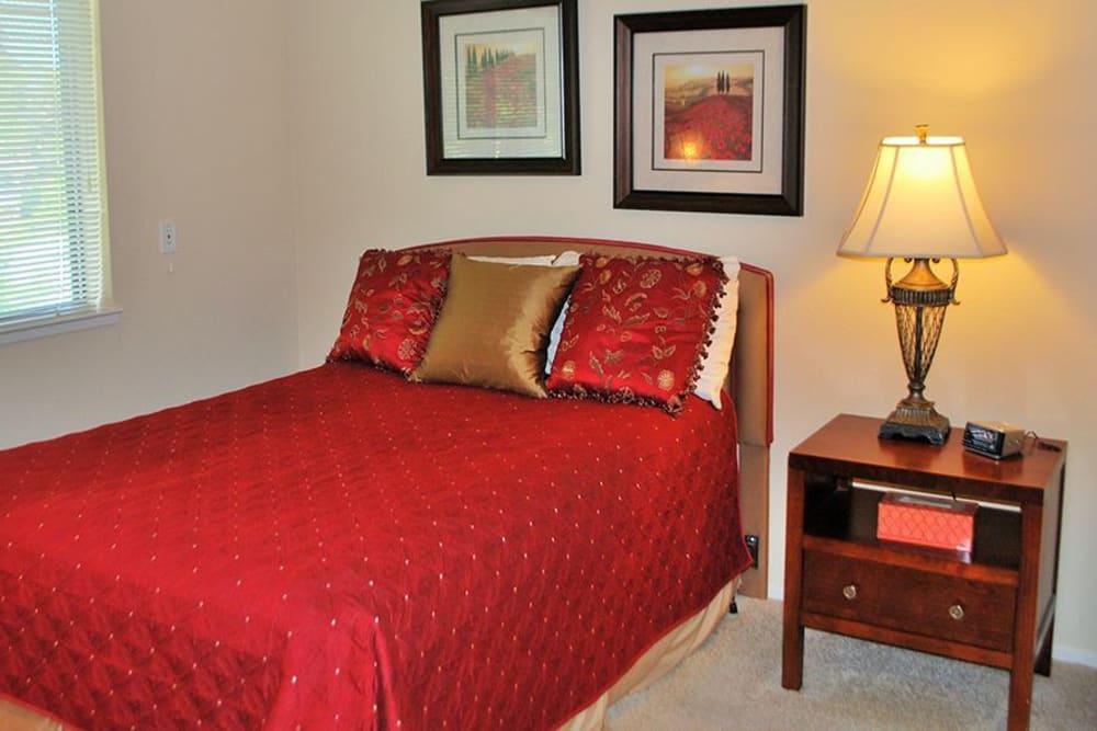 Spacious Bedroom at Roseville Commons Senior Living in Roseville, California