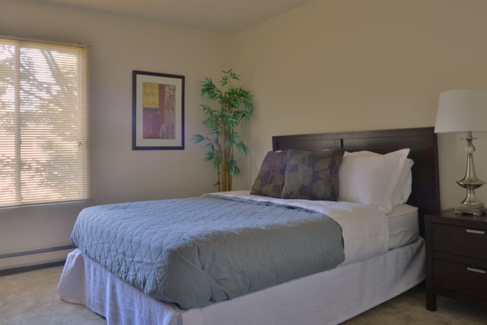 Another example bedroom at Parquelynn Village Apartments in Nashotah, WI