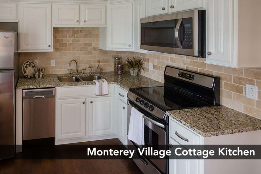 Fully equipped Kitchen at Monterey Village Senior Living in Lawrence, Kansas