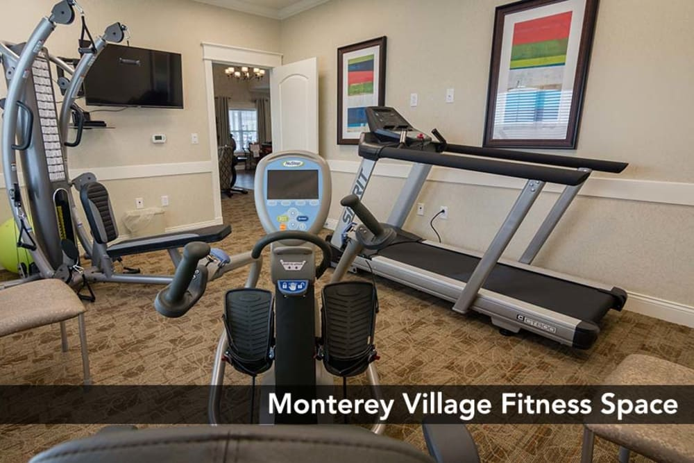 Monterey Village Senior Living offers a fitness center in Lawrence, Kansas