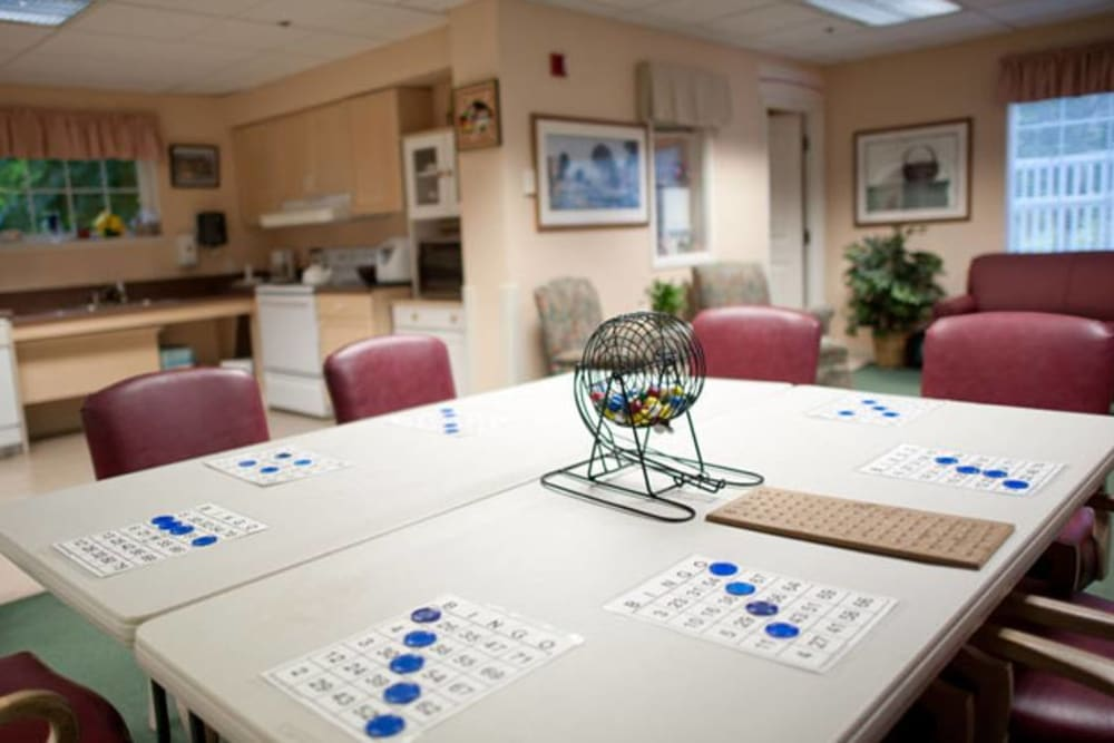 Activity room at Birchview Memory Care