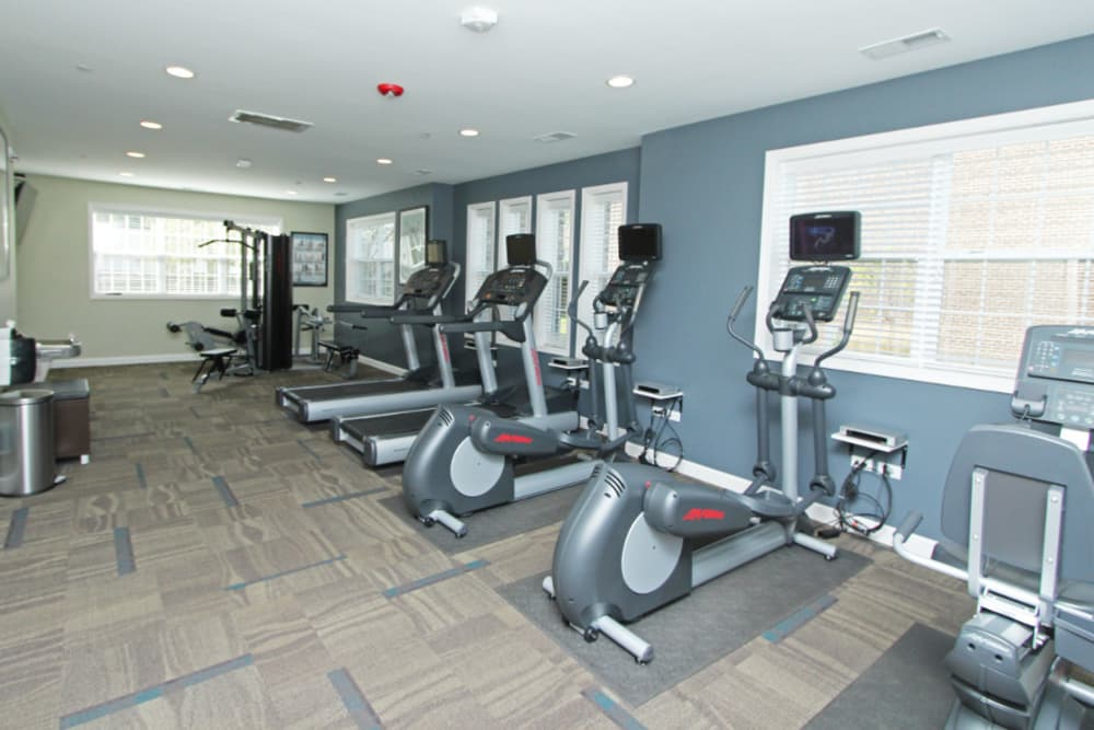 Resident fitness center at Cypress Place in Elk Grove Village, Illinois