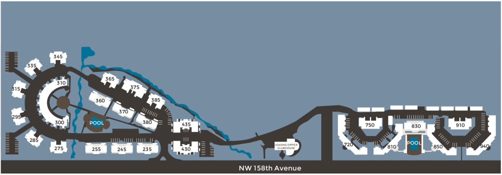 Community site map for Waterhouse Place in Beaverton, Oregon