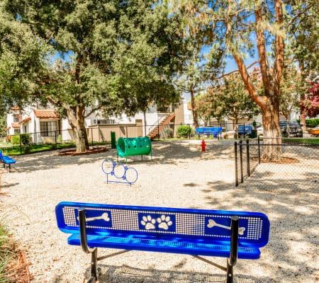 Onsite dog park at Sonora at Alta Loma in Alta Loma, California