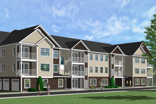 22-unit exterior rendering at Enclave 50 in Ballston Spa, New York