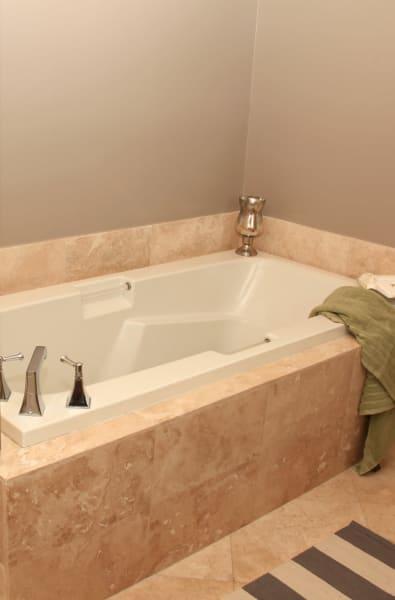 Large bathroom tub at The Heritage at Boca Raton in Boca Raton, Florida