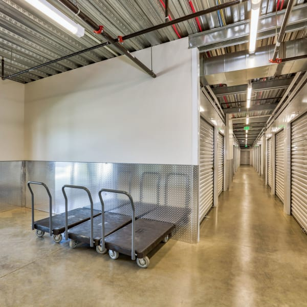 Moving carts available at StorQuest Self Storage in Denver, Colorado
