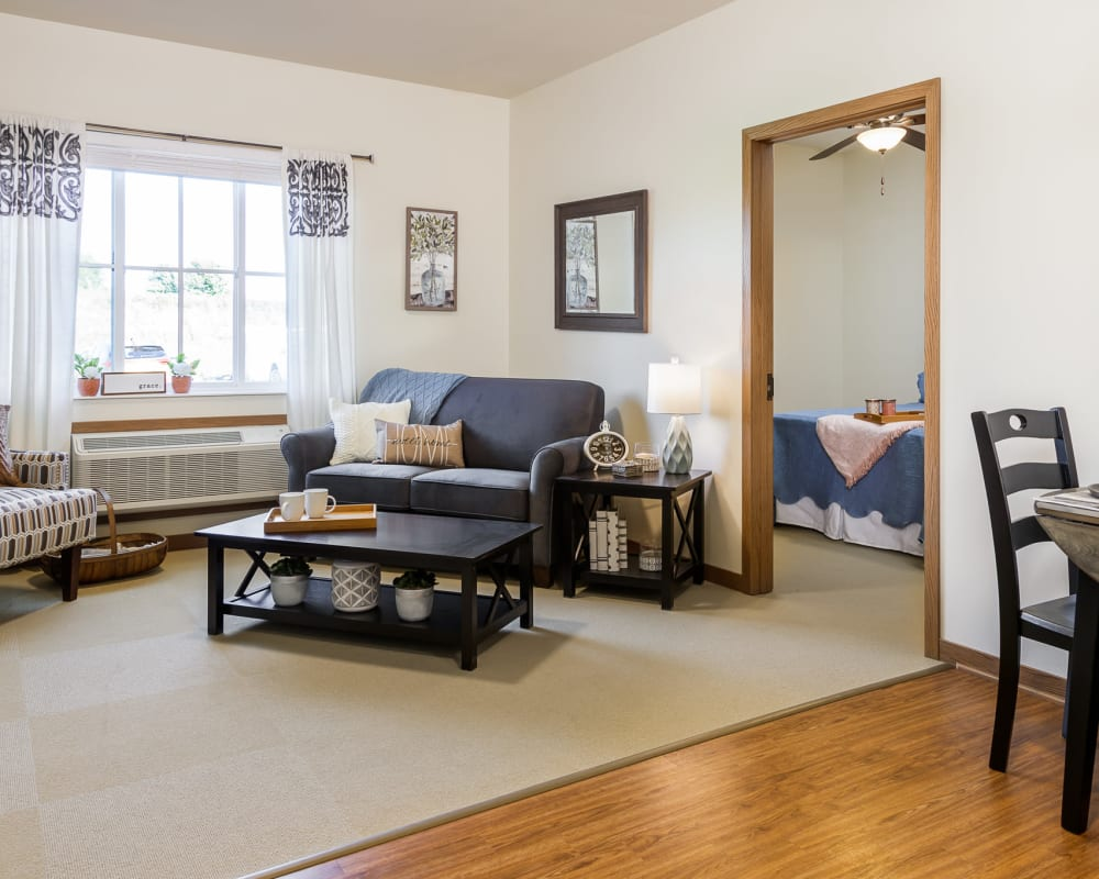 1 Bedroom senior apartment at Edencrest at The Legacy in Norwalk, Iowa.