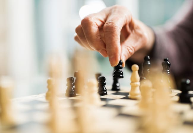 A game of chess at Ramsey Village Continuing Care in Des Moines, Iowa