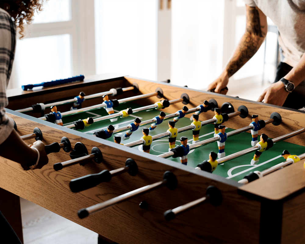 Foosball table for residents to play at 6600 Main in Miami Lakes, Florida