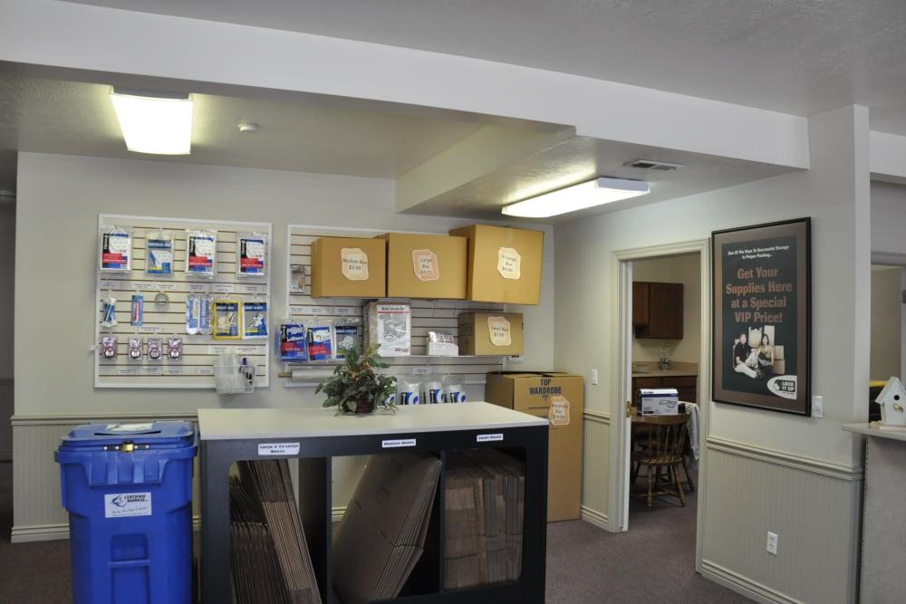 Boxes for sale at Lock It Up Self Storage in Ogden, Utah