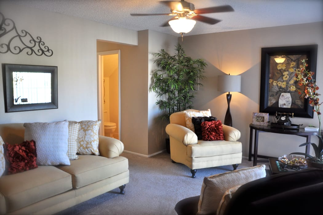 Wonderful living room at Mountain Village in El Paso, Texas