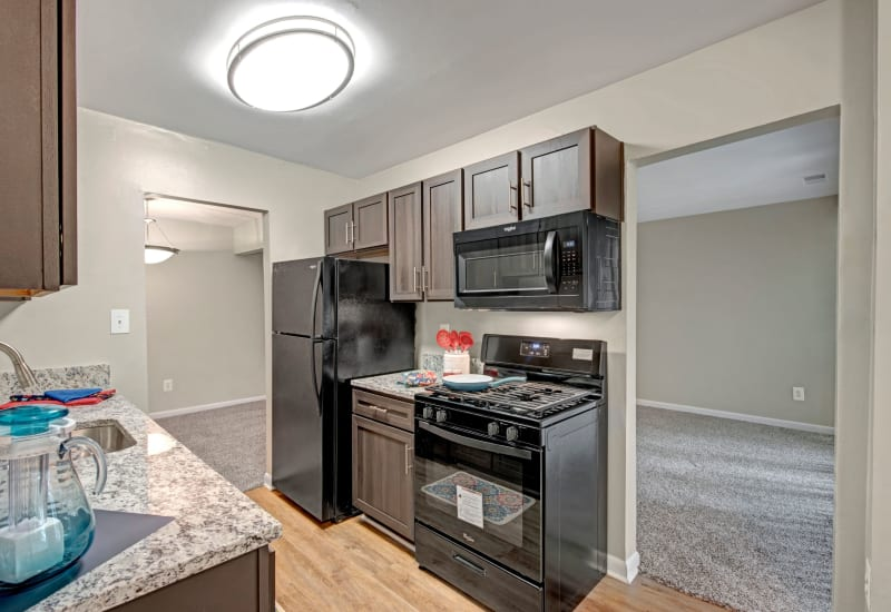 Fully equipped kitchen at West Springfield Terrace in Springfield, Virginia
