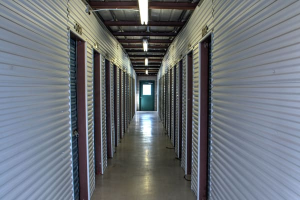 Interior storage units at Lockaway Storage in San Antonio, Texas