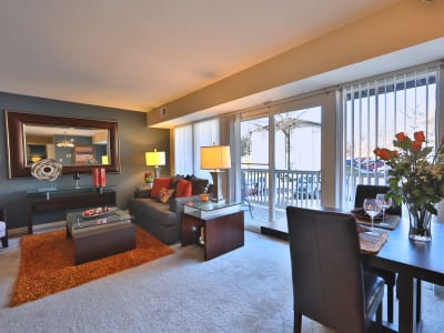 Living room at apartments in Laurel, Maryland