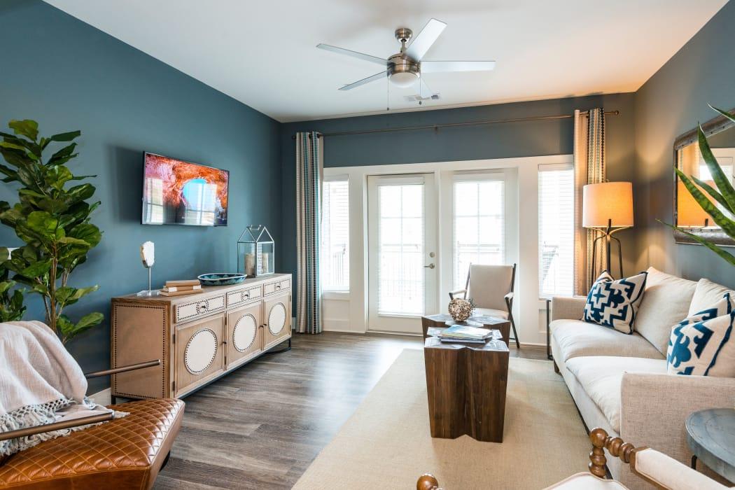 Modern living room at The Heyward in Charleston, South Carolina