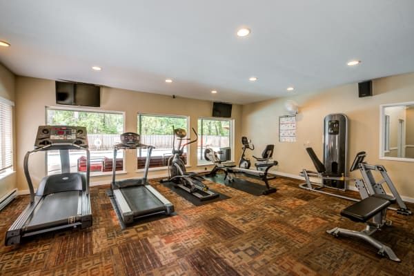 Well-equipped fitness center at Chestnut Hills Apartments