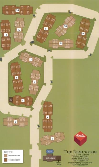 Site map for The Remington Apartments in Wichita, Kansas