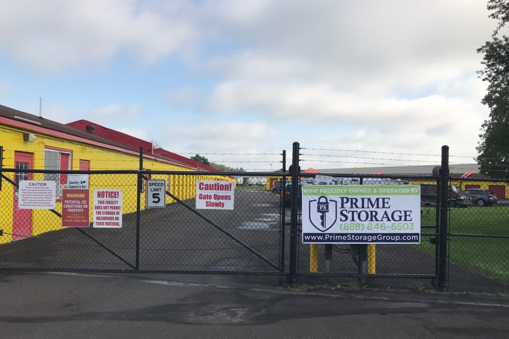 Gated entrance at Prime Storage in Fairless Hills, PA