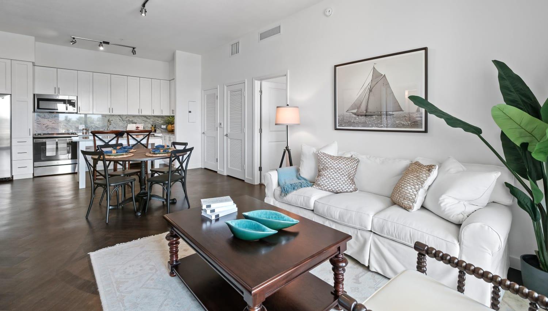Modern apartment home with an open floorplan at Town Lantana in Lantana, Florida