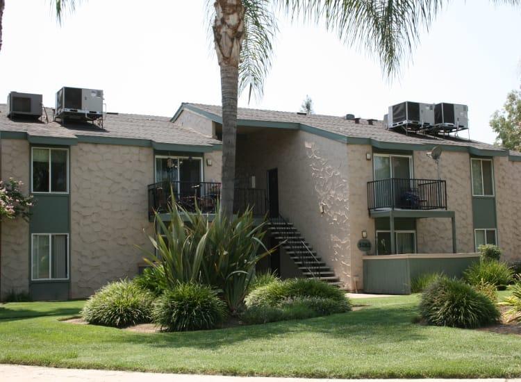 Beautiful greenery at San Tropez Apartments in Fresno, California