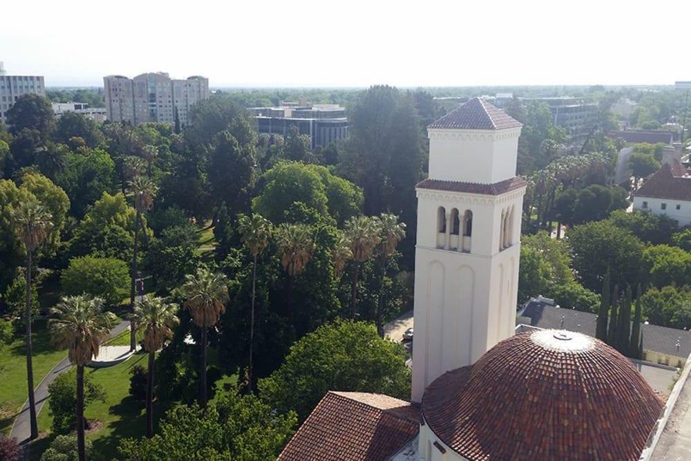 Aerial view of Park Place Senior Living in Sacramento, California