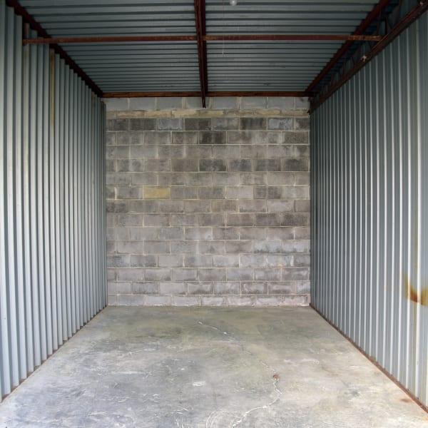 Interior of storage unit at StayLock Storage in Warner Robins, Georgia