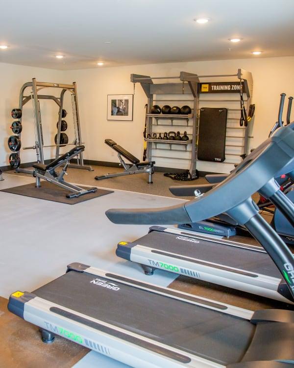 Fitness center at Belcourt Park in Nashville, Tennessee