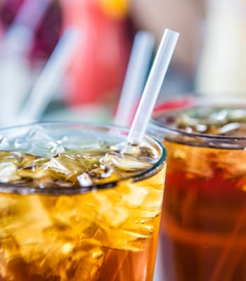Fancy sodas at a restaurant near Rosewalk in San Jose, California